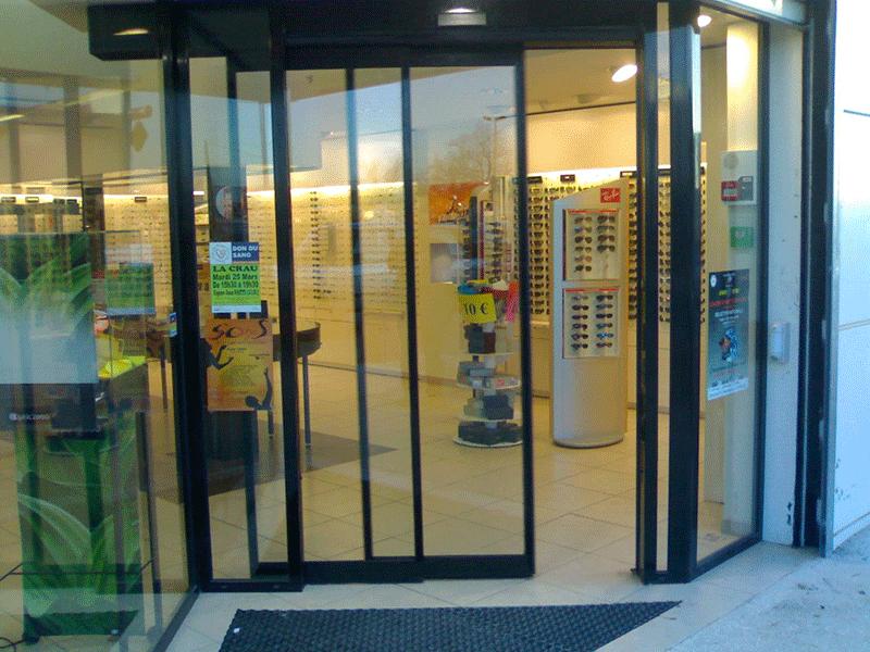 Access Pro Fermetures - Porte automatique télescopique
